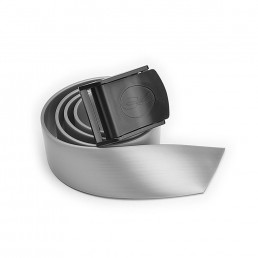 Cinturón Hebilla Nylon Silver